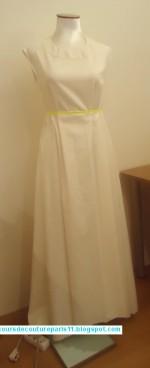 Confection d'une robe longue – encours!!!