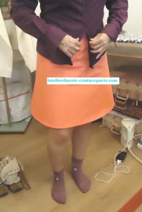 Petite jupe de couleurcorail