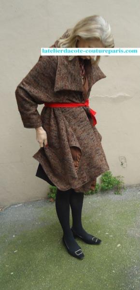 Manteau ample demi-saison