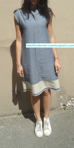 Robe 3 trous bicolore